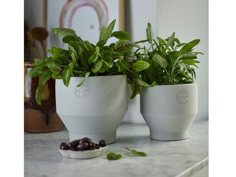 13 cm and 15 cm Light Grey Indoor Edge Pot by Skagerak