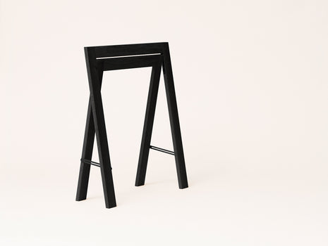 Austere Trestles - Black Stained Oak - by Form & Refine
