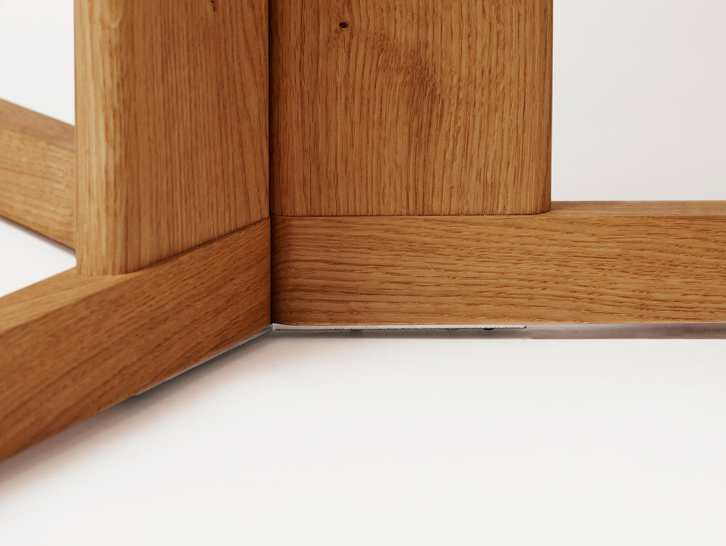 Trefoil Table by Form and Refine - Oiled Oak Detail