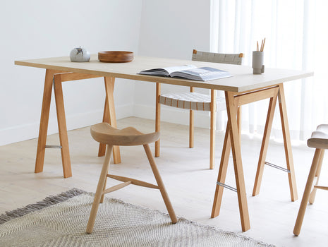 Austere Trestles - Oiled Oak - by Form & Refine