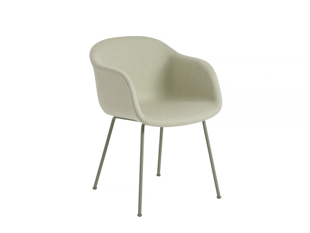 Fiber Armchair - Balder 3 912, Dusty Green Metal Base