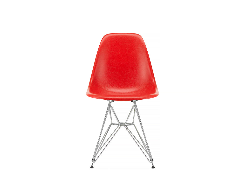 Classic Red, Eames Fiberglass DSR Side Chair by Vitra
