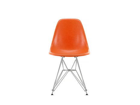 Red Orange, Eames Fiberglass DSR Side Chair by Vitra