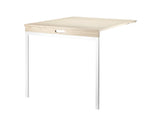 String Folding Table - Ash, White Legs