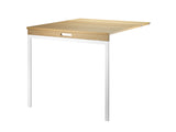 String Folding Table - Oak, White Legs