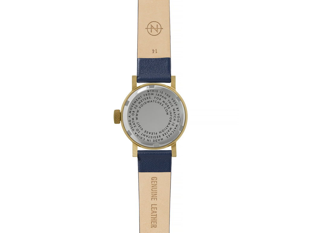 V03P Petite Gold and Royal Blue by Void Watches