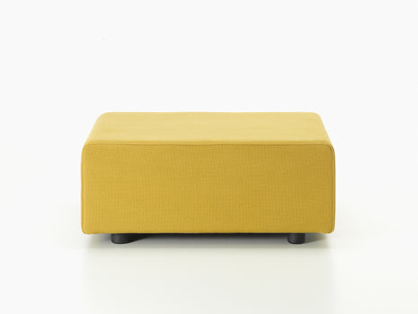 Golden Yellow Polder Ottoman by Vitra