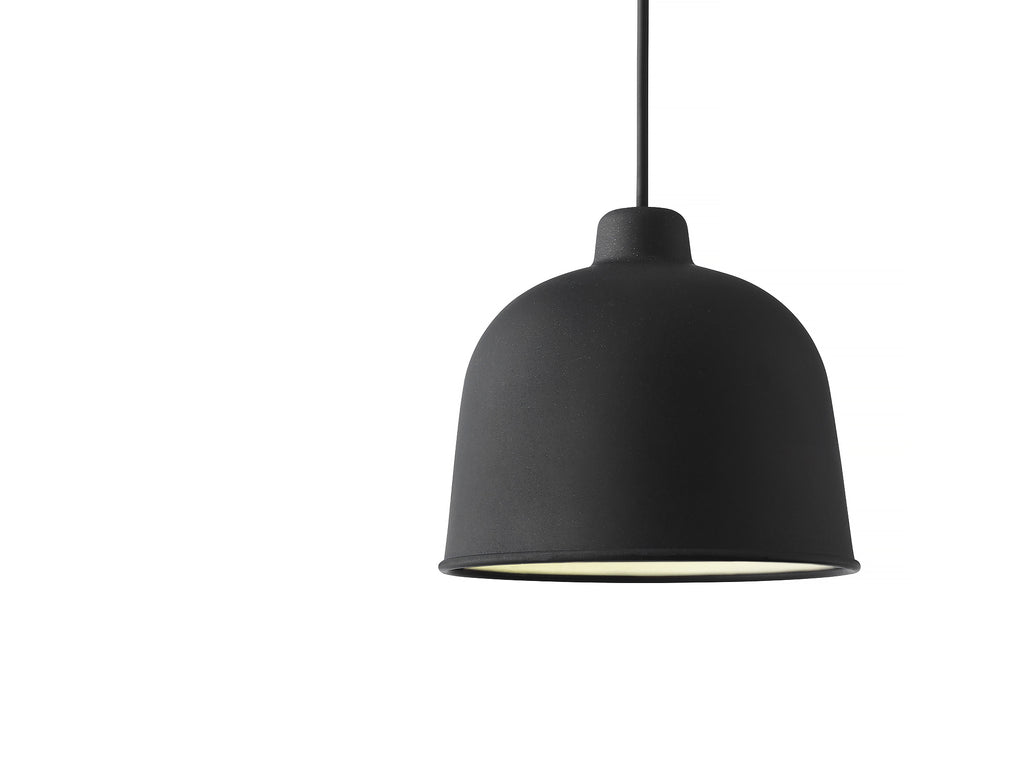 Black Grain Pendant Light by Muuto