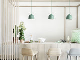 Dusty Green Grain Pendant Light by Muuto