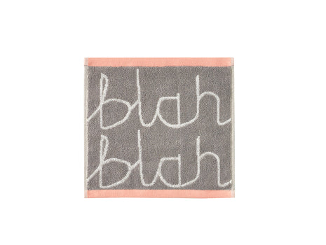 Grey Blah Blah Face Towel by Donna Wilson