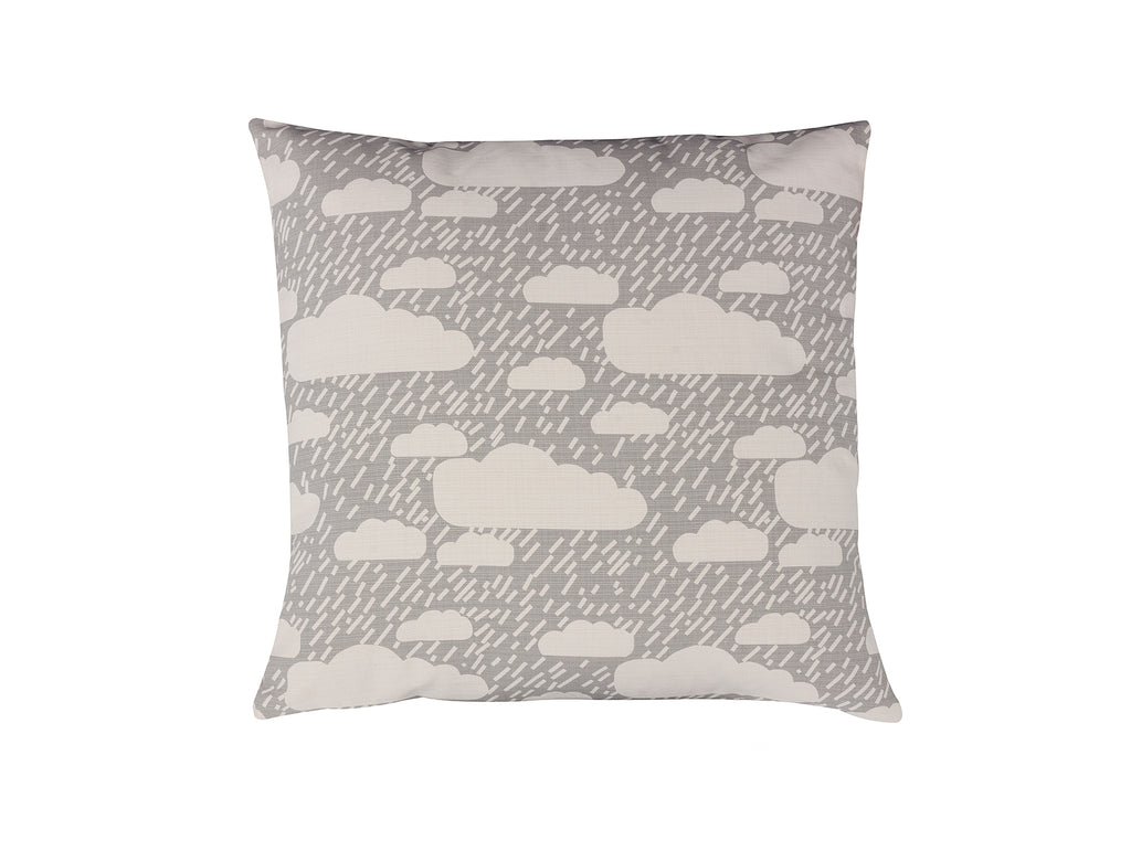 Grey Rainy Day Cushion by Donna Wilson