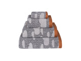 Grey Rainy Day Towels by Donna Wilson