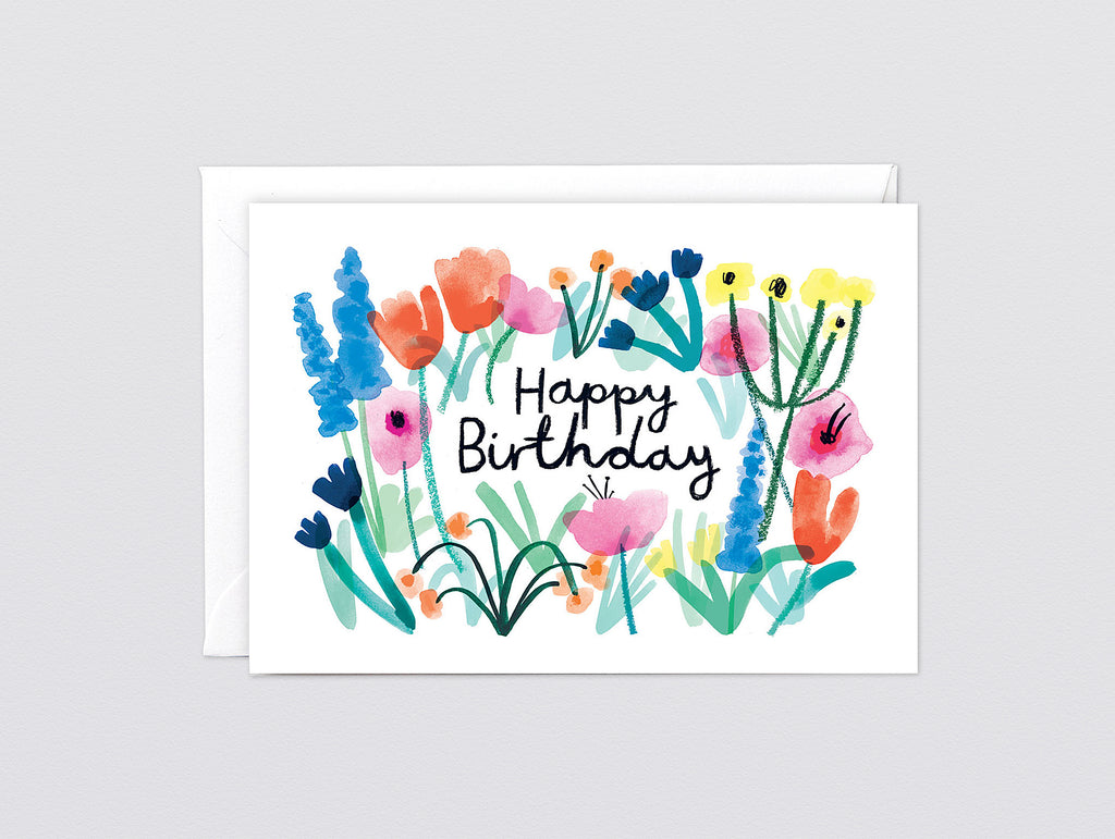 Happy Birthday Floral Greetings Card By Wrap Really Well Made