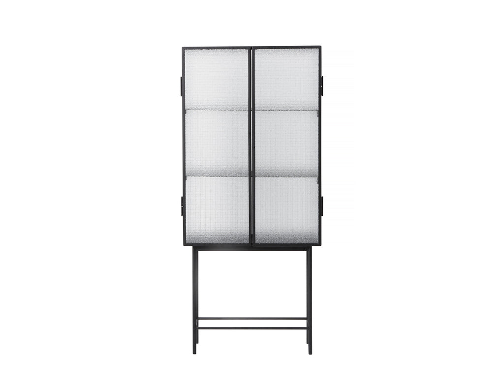 Haze Vitrine by Ferm Living - Black / Wired Glass
