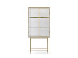 Haze Vitrine by Ferm Living - Cashmere / Ripple Glass