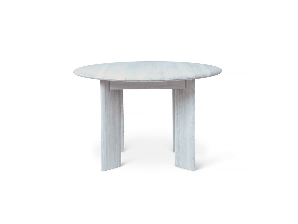 Ice Blue Lacquered Bevel Round Table by Ferm Living