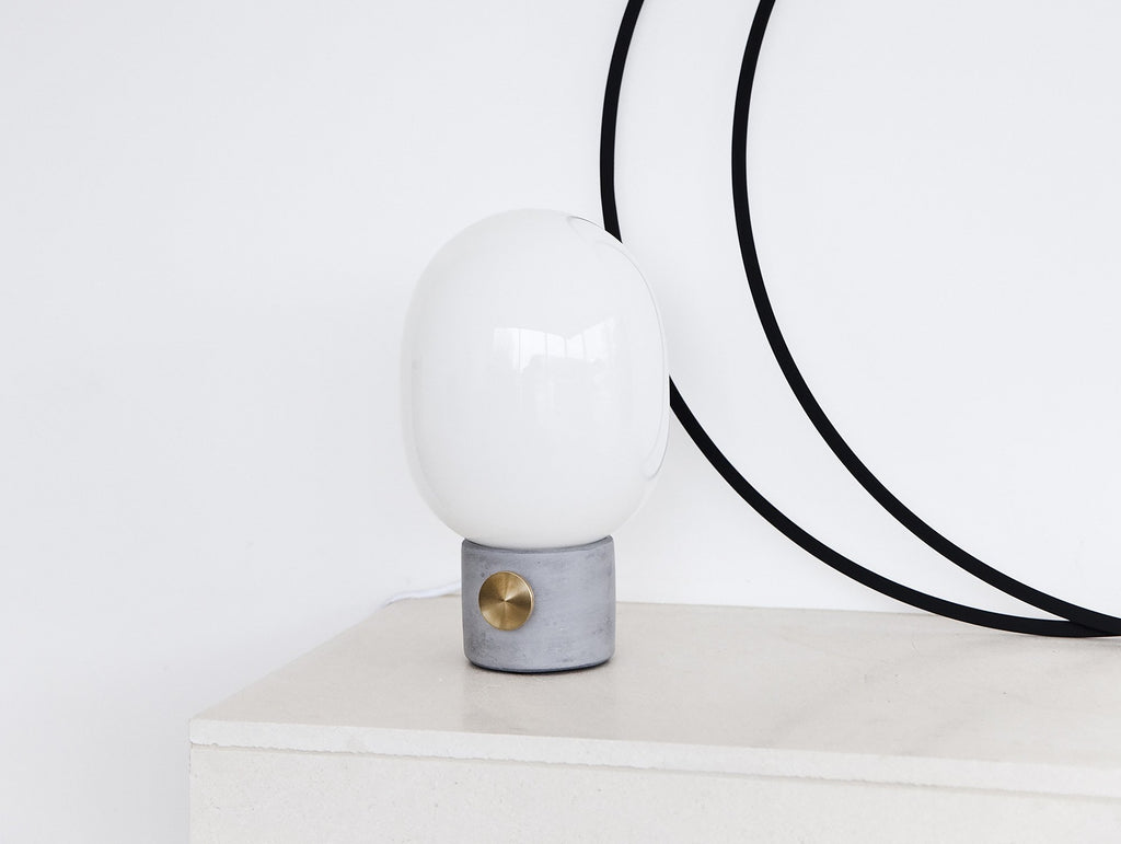 JWDA Concrete And Brass Table Lamp By Menu