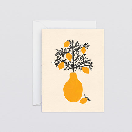 Lemon Tree Mini Art Card by Wrap