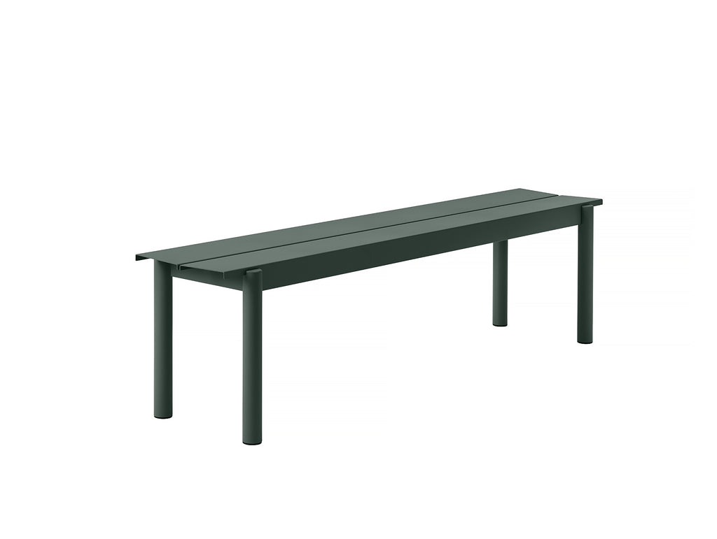 Muuto Linear Bench 170 cm - Dark Green