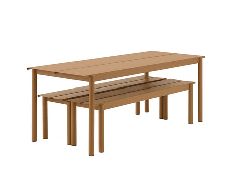 Muuto Linear Table and Bench Nested