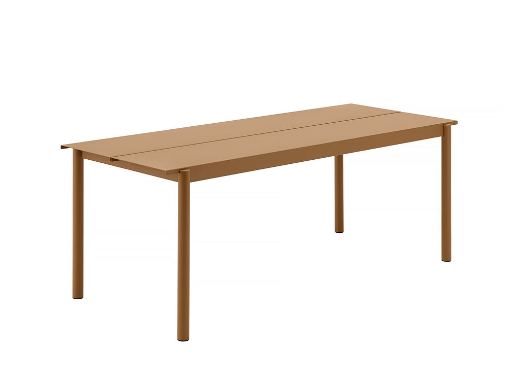 Muuto Linear Table 200 cm - Burnt Orange