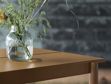 Linear Steel Table and Bench - Burnt Orange