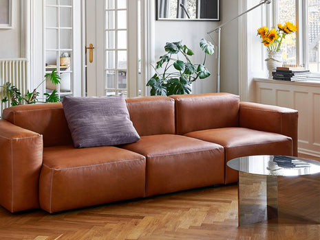 HAY Mags Soft Sofa (Low Armrest) - Cognac Silk Leather