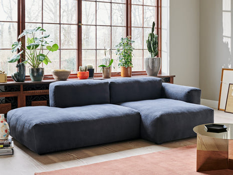 Mags Soft 2.5 Seater Sofa (Low Armrest) Linara Blueberry 198