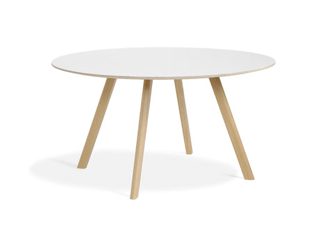 Matt Lacquered Oak White Laminate Copenhague Round Dining Table CPH25 by HAY