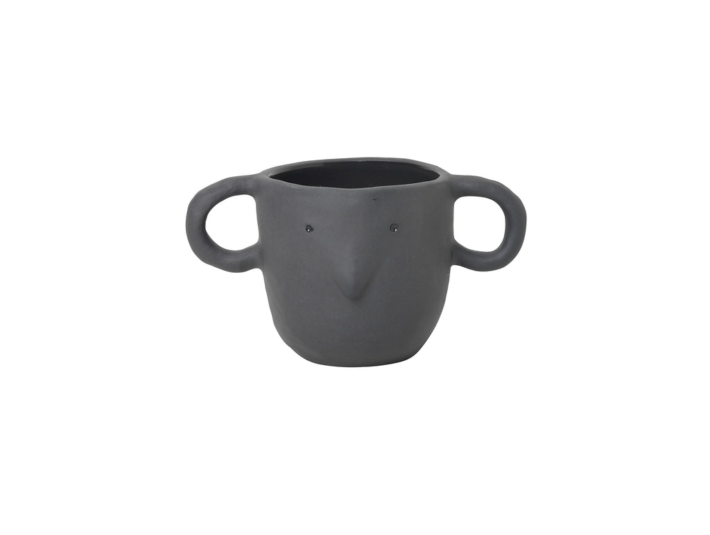 Dark Grey Small Mus Plant Pot by Ferm Living
