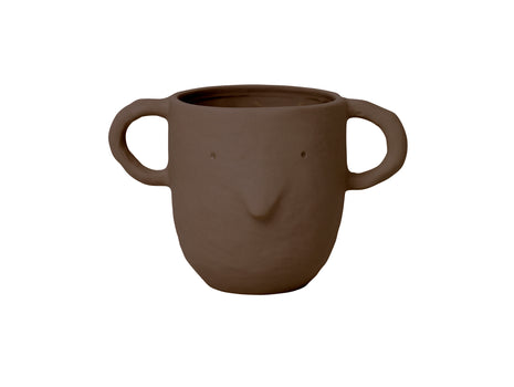 Red Brown Large Mus Plant Pot by Ferm Living