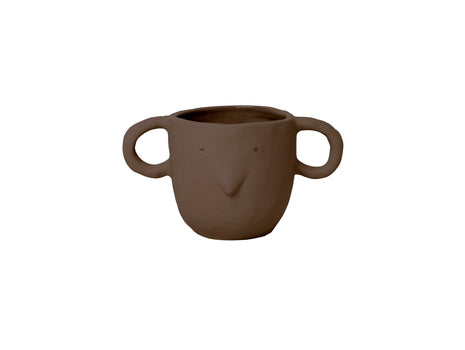 Red Brown Small Mus Plant Pot by Ferm Living