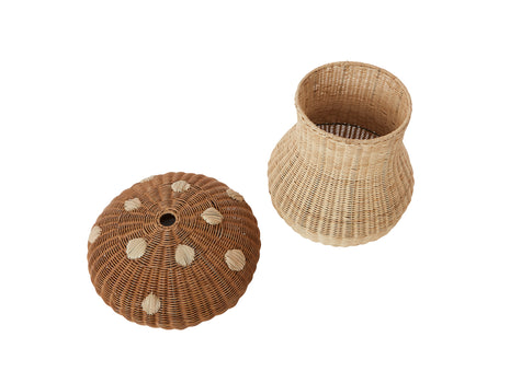Mushroom Braided Basket by OYOY