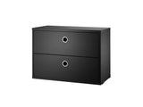 String System Drawers - Narrow - Black Ash