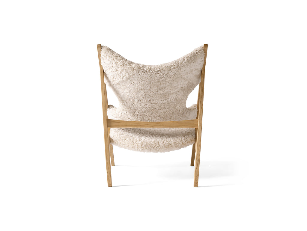 Natural Oak and White Knitting Chair - Sheepskin by Menu