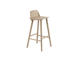 Natural Oak 75 cm Nerd Barstool by Muuto