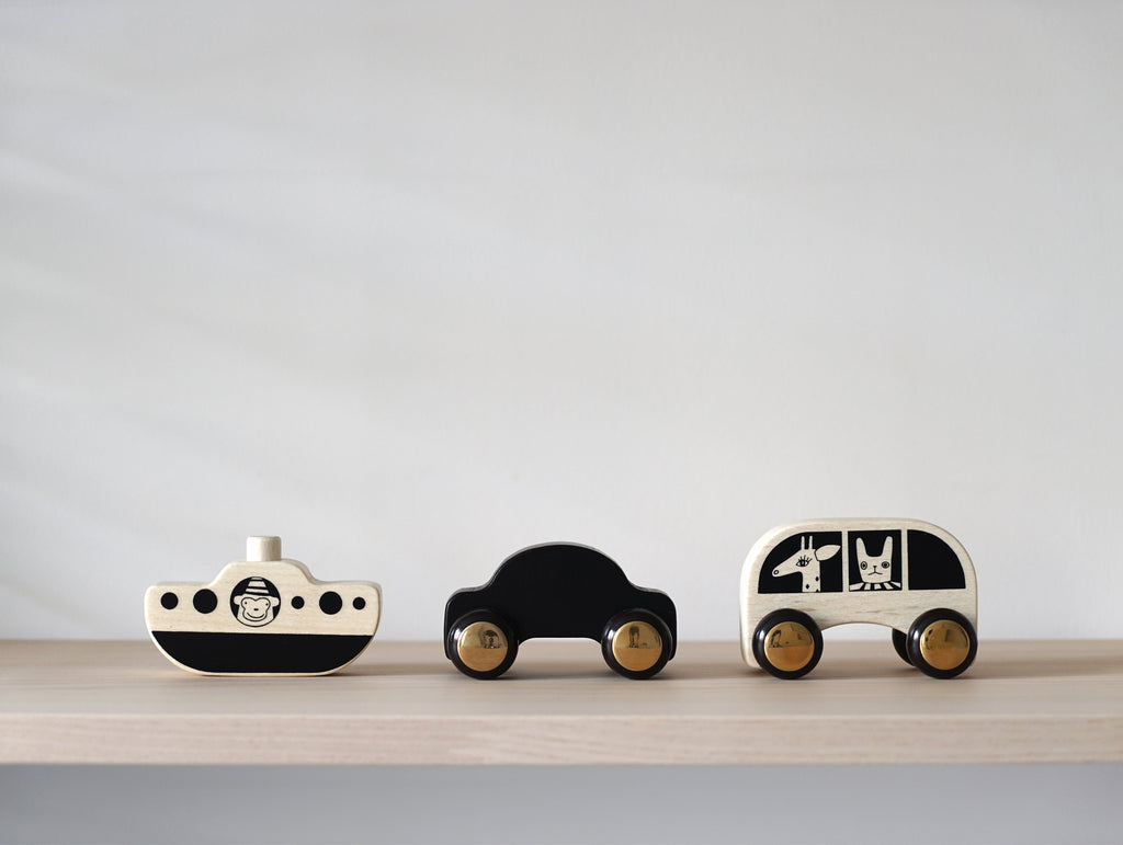 No Rush Cars and Boat - Set of 3 by OYOY