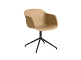 Ochre Fiber Armchair with Swivel Base by Muuto