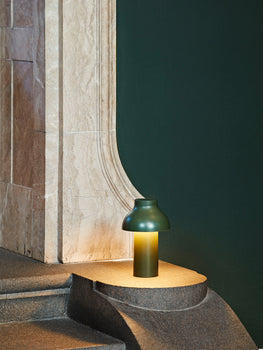 Olive PC Portable Lamp by HAY