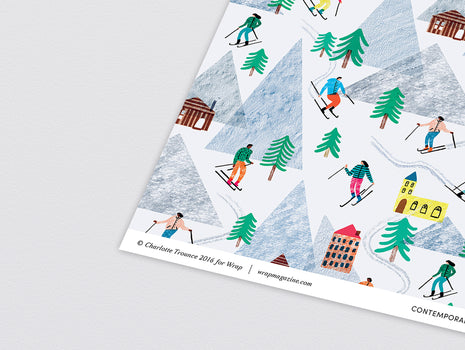 On the Slopes Wrapping Paper x 3 Sheets by Wrap