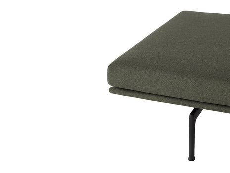 Outline Daybed Without Cushion in Fiord 961 / Black Legs by Muuto