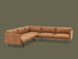 Muuto Outline Corner Sofa - Cognac Silk Leather