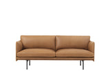 Muuto Outline Sofa, 2 Seat, Cognac Silk Leather