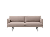 Muuto Outline Sofa, 2 Seat, Fiord 471