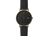PKG01 Gold / Black Face / Black Strap by Void Watches