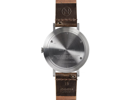 PKG01 Horween Edition - Silver and Brown by Void Watches