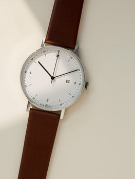 PKG01 Silver and Light Brown by Void Watches