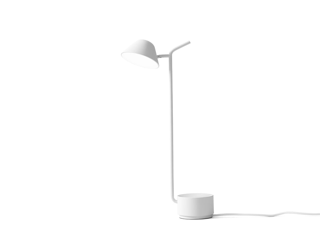 White Peek Table Lamp by Menu