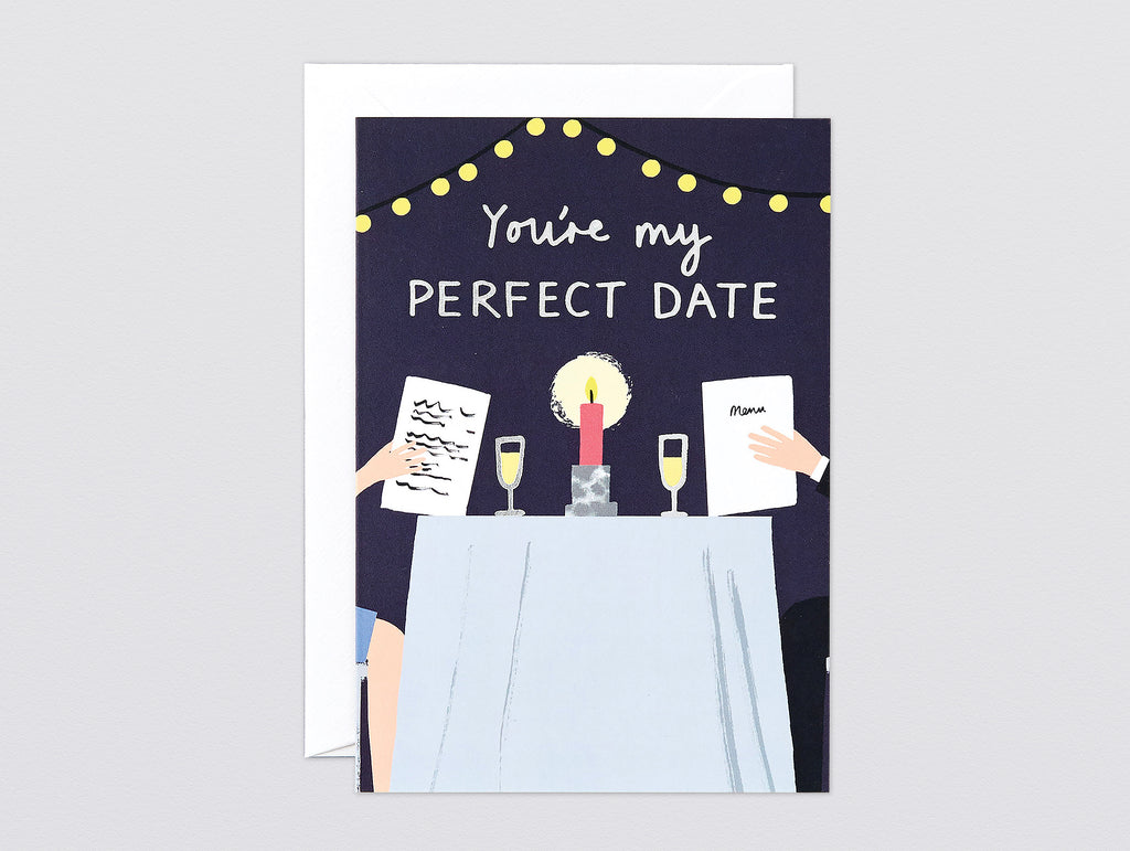'Perfect Date' Foiled Greetings Card by Wrap