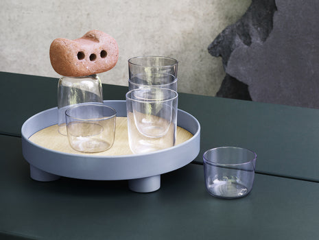 Blue-Grey Platform Tray by Muuto